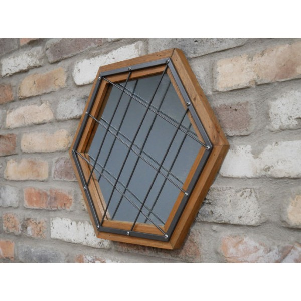 . Hexagon Cage Mirror