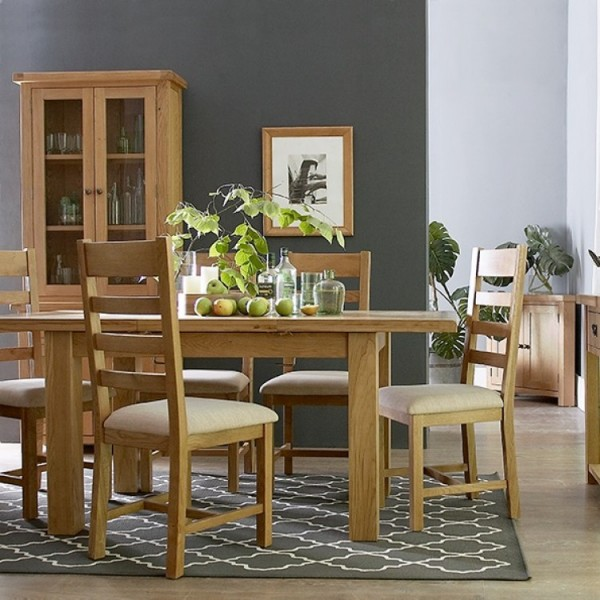 Country Oak 1.7m Extending Butterfly Table